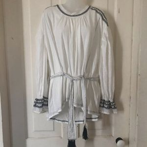 FREE PEOPLE PEASANT BLOUSE/TUNIC/TOP. S